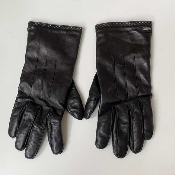 Coach leather gloves 6 1/2